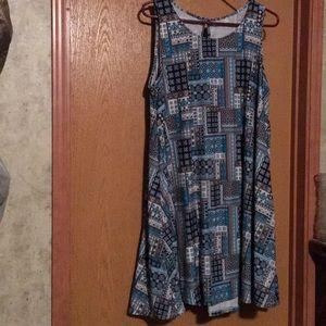 Peek a boo cotton dress
